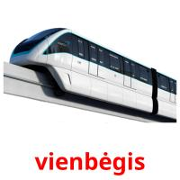 vienbėgis picture flashcards