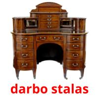 darbo stalas picture flashcards