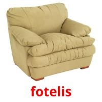 fotelis picture flashcards