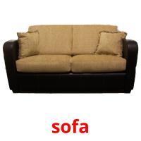 sofa picture flashcards
