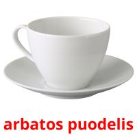arbatos puodelis picture flashcards