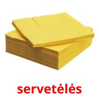servetėlės picture flashcards