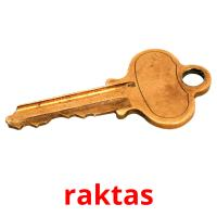 raktas picture flashcards