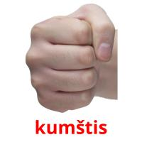 kumštis picture flashcards
