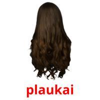 plaukai picture flashcards