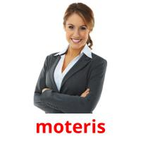 moteris picture flashcards