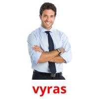 vyras picture flashcards