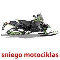 sniego motociklas picture flashcards
