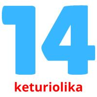 keturiolika picture flashcards