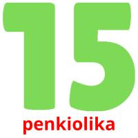 penkiolika picture flashcards