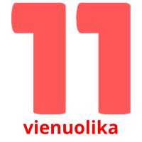vienuolika picture flashcards