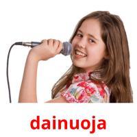 dainuoja picture flashcards