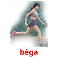 bėga picture flashcards