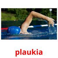 plaukia picture flashcards