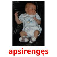 apsirengęs picture flashcards