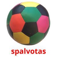 spalvotas picture flashcards
