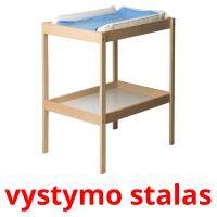 vystymo stalas picture flashcards