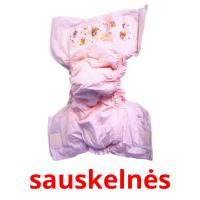 sauskelnės picture flashcards
