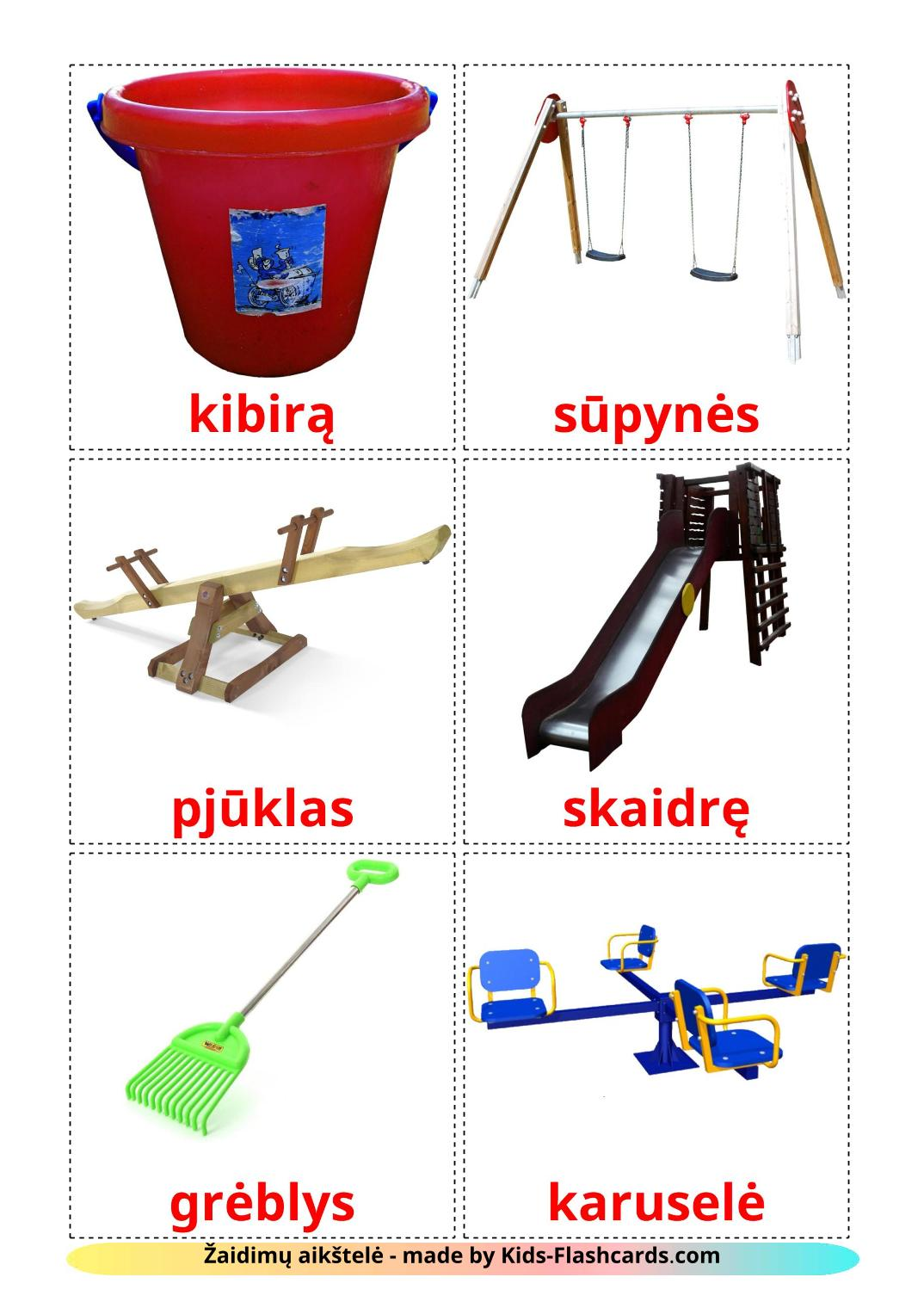 Playground - 13 Free Printable lithuanian Flashcards