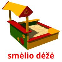 smėlio dėžė picture flashcards