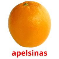 apelsinas picture flashcards