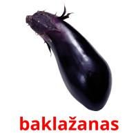 baklažanas picture flashcards