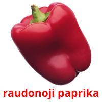 raudonoji paprika picture flashcards