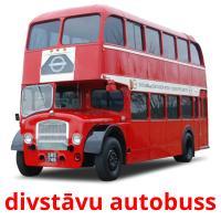 divstāvu autobuss picture flashcards