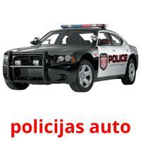 policijas auto picture flashcards