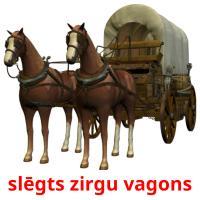 slēgts zirgu vagons picture flashcards