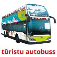 tūristu autobuss picture flashcards
