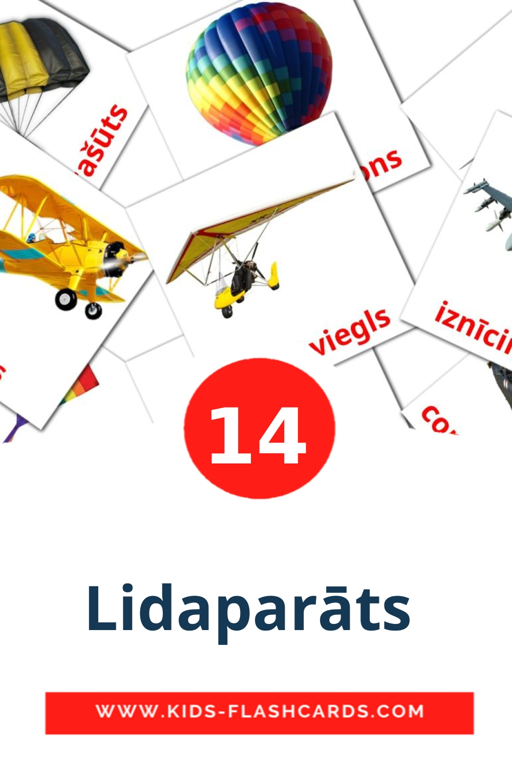 14 Lidaparāts  Picture Cards for Kindergarden in latvian