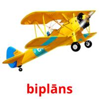 biplāns picture flashcards