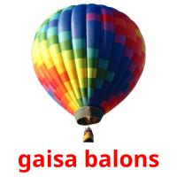 gaisa balons picture flashcards