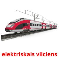 elektriskais vilciens picture flashcards