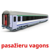 pasažieru vagons picture flashcards