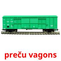preču vagons picture flashcards