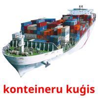 konteineru kuģis picture flashcards