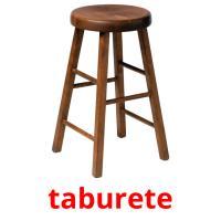 taburete picture flashcards