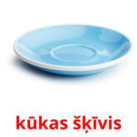 kūkas šķīvis picture flashcards