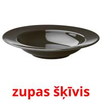 zupas šķīvis picture flashcards