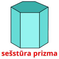 sešstūra prizma picture flashcards