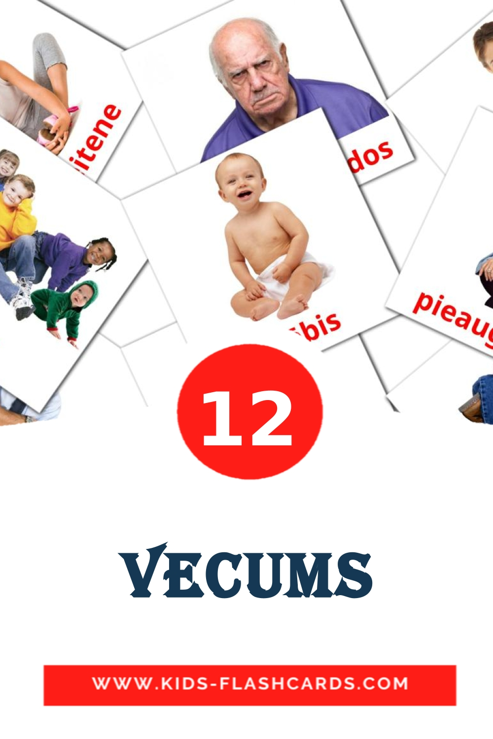 12 Vecums Picture Cards for Kindergarden in latvian