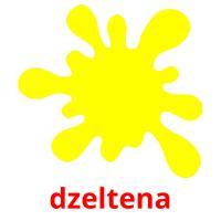 dzeltena picture flashcards