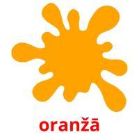oranžā picture flashcards