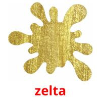 zelta picture flashcards