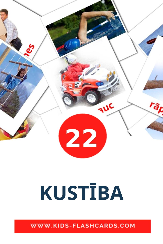 KUSTĪBA на латышском для Детского Сада (22 карточки)