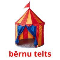 bērnu telts picture flashcards