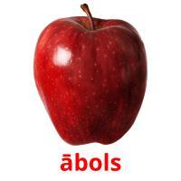 ābols picture flashcards