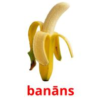 banāns picture flashcards